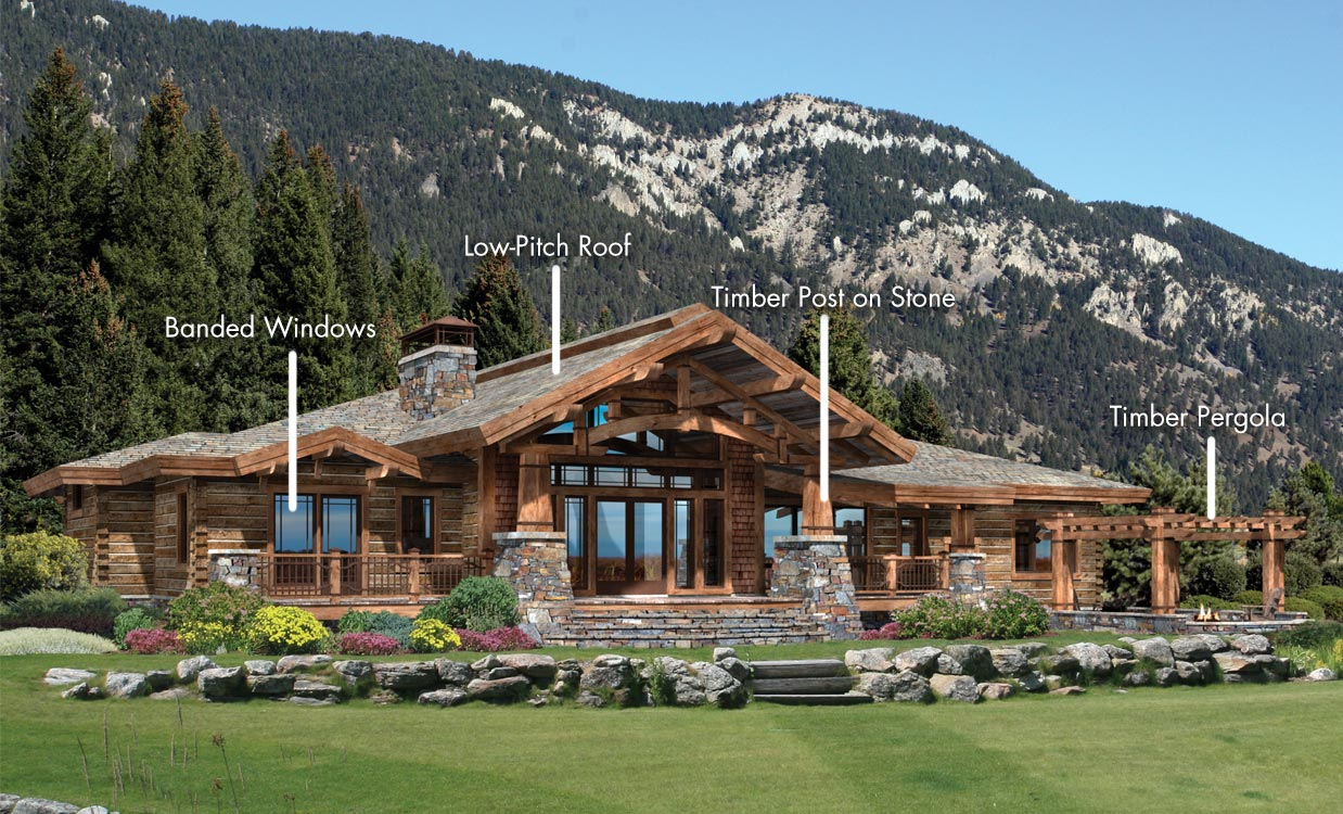 Architectrual styles log homes timber homes for Craftsman style architects