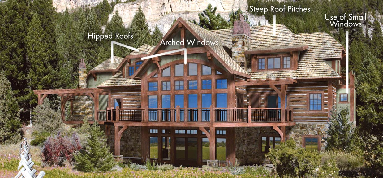 Architectrual styles log homes timber homes for A frame house characteristics