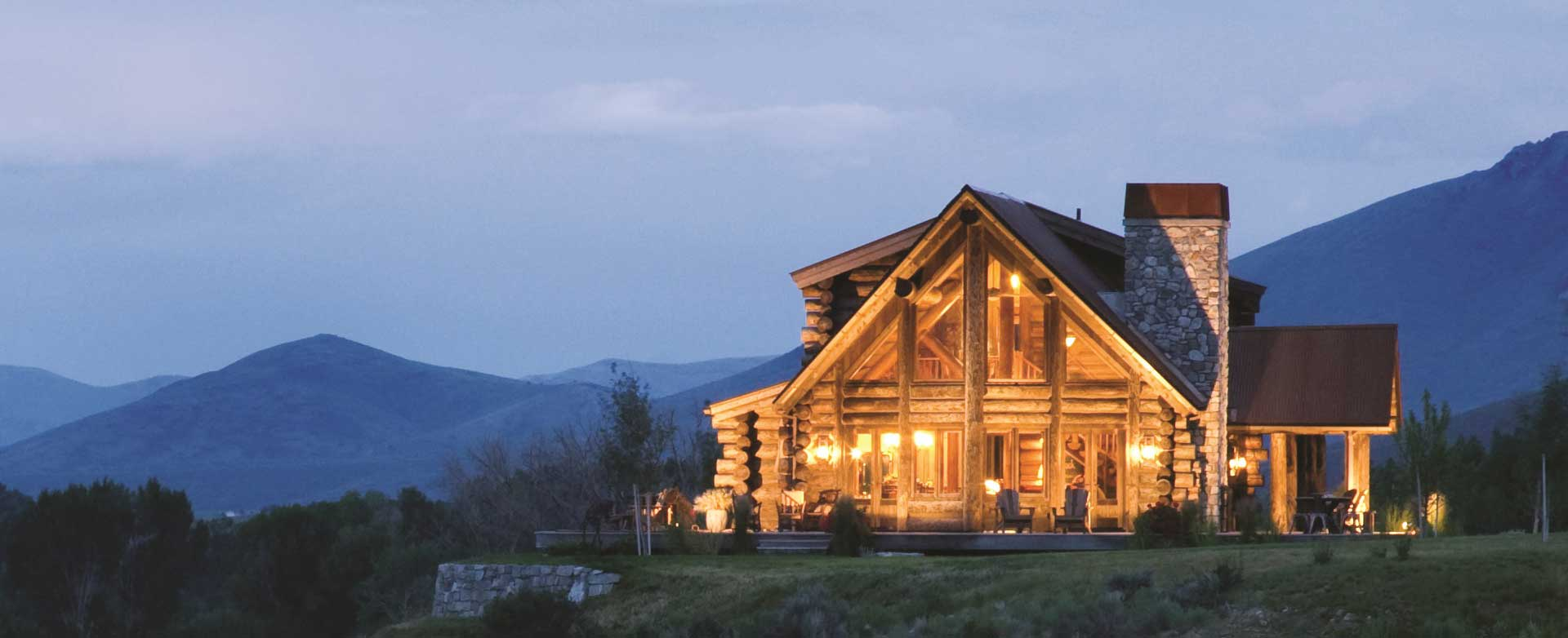 Cabin Refined log home