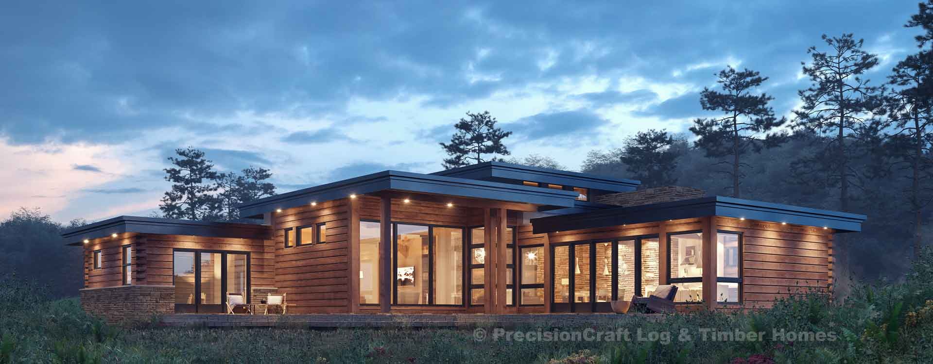 Sun Prairie – Modern Log Home Floor Plans
