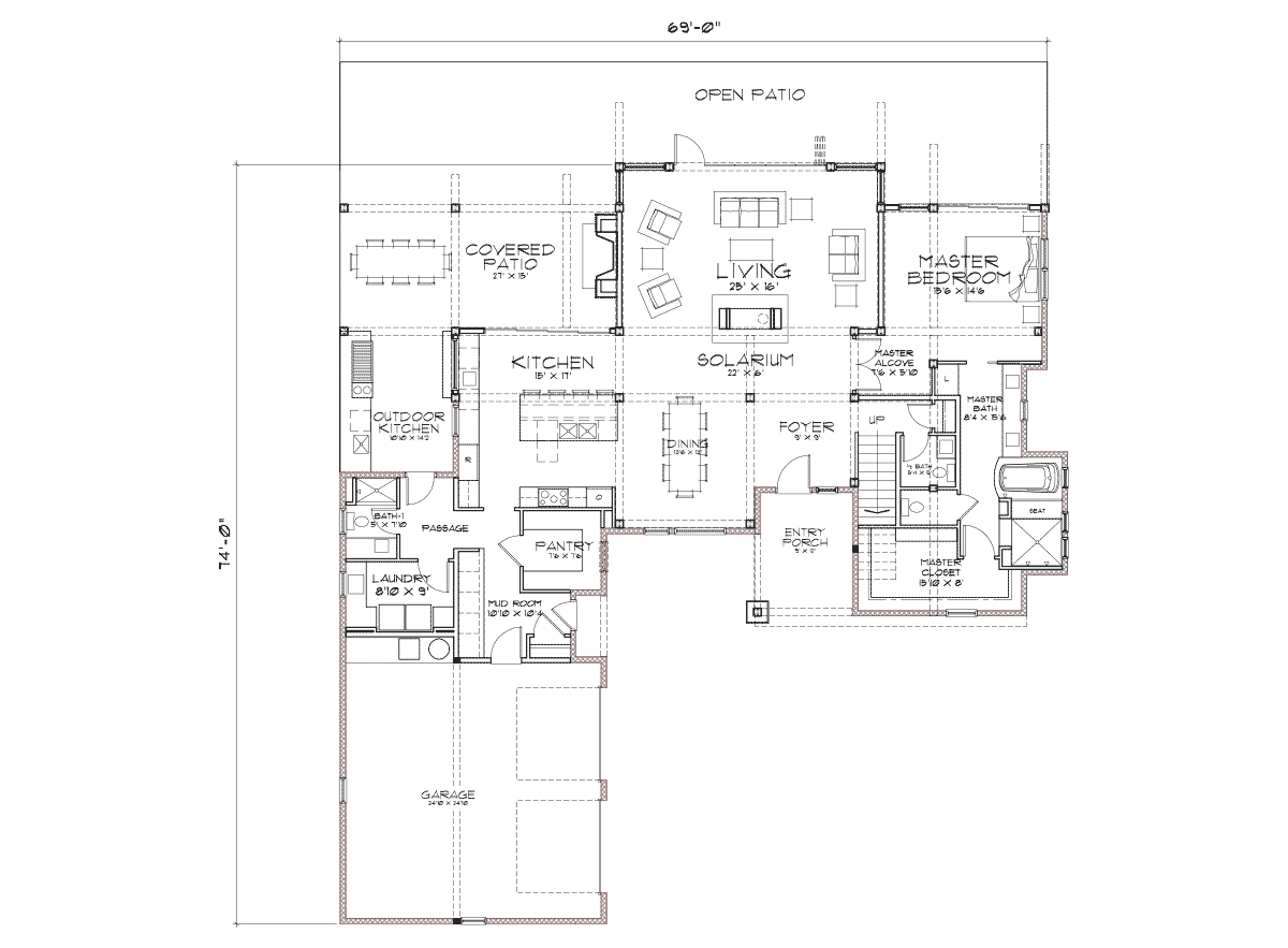 Sunriver Main Floor Plan