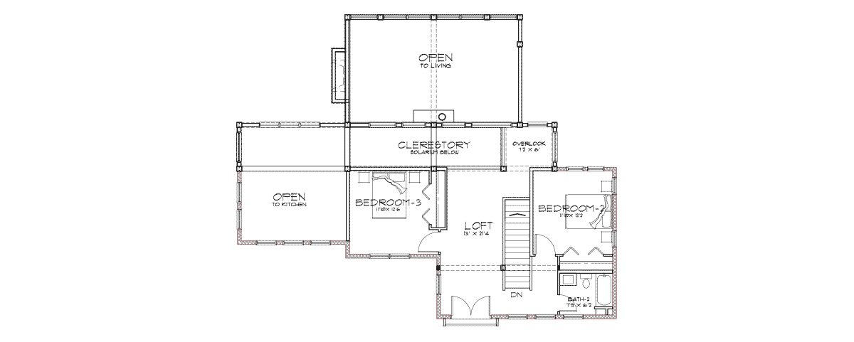 Sunriver Second Floor Plan