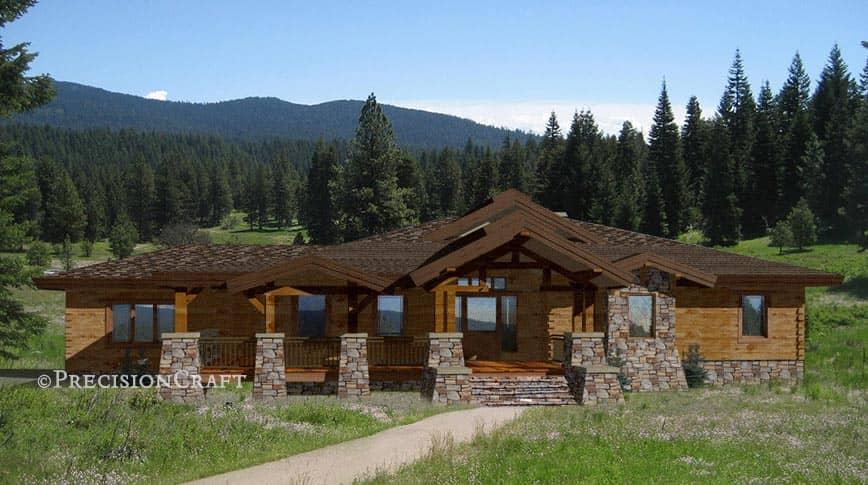 Wood River | Timber Frame Floor Plan on lake house deck designs, beach house deck designs, ranch house deck designs,