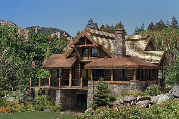 Alderbrook Log home plan