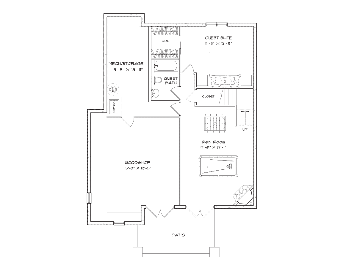 Alderbrook Basement Floor Plan