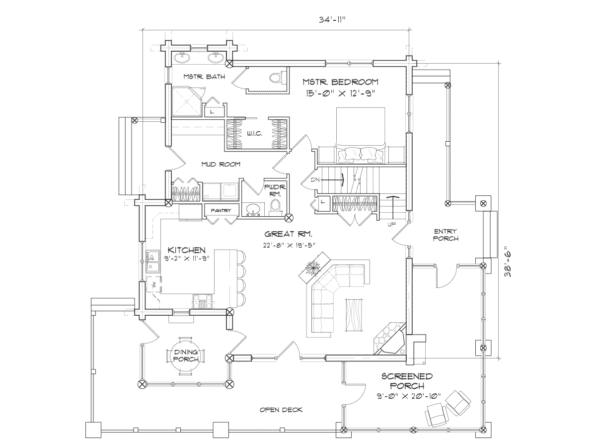 Alberbrook Main Floor Plan