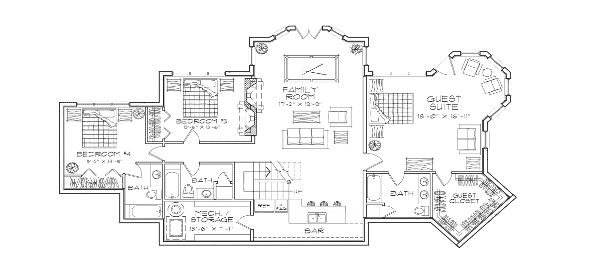Allegheny Basement Floor Plan
