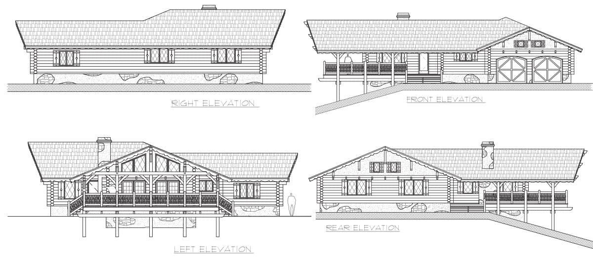 Alpine Meadow | Log Home Floor Plan