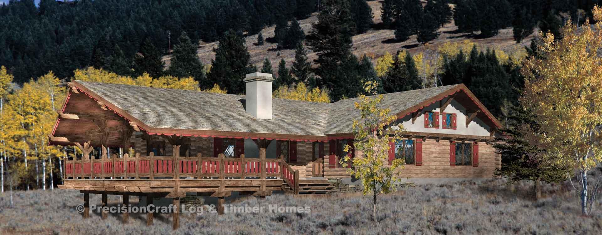 Alpine Meadow Log Home Floor Plan
