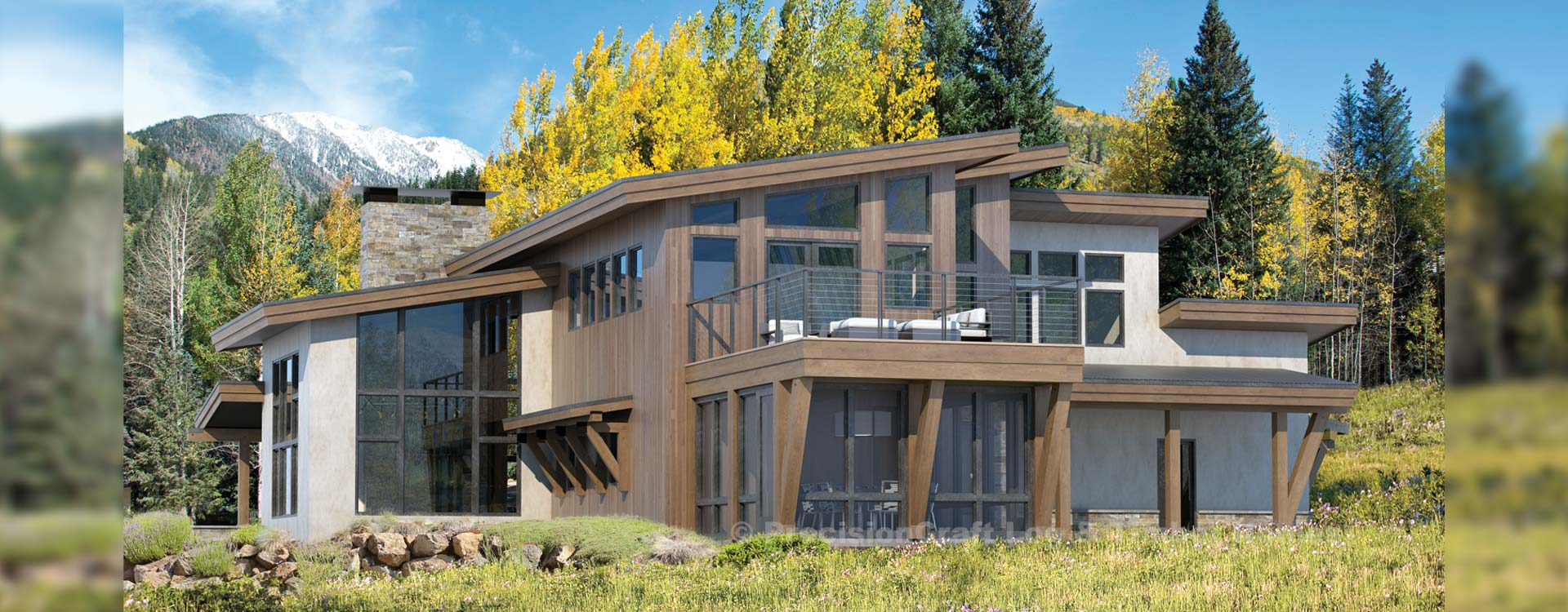 Alta Modern Timber Home Rendering