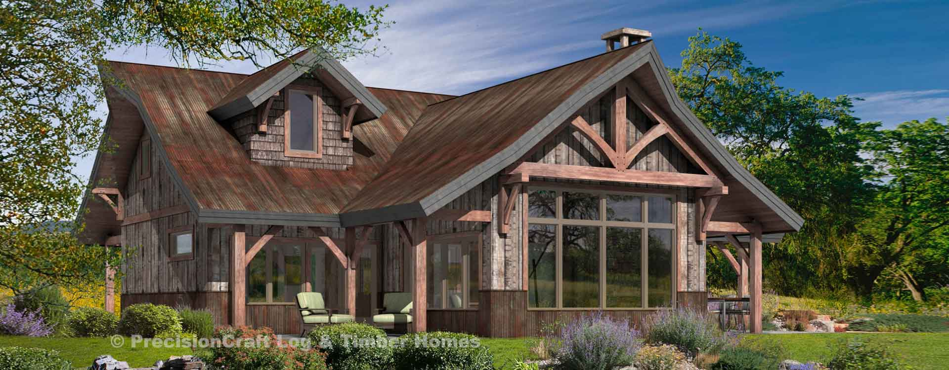 Ashcroft timber frame floor plan Timber frame cottage plans