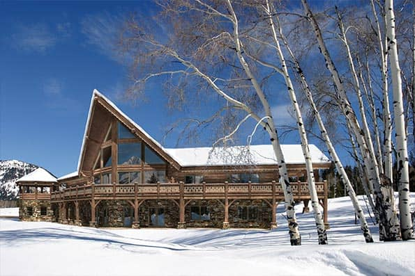 Aspen Peak log home floor plan