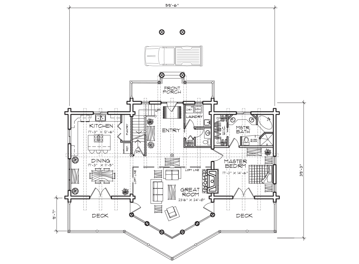 Beartooth Main Floor Plan