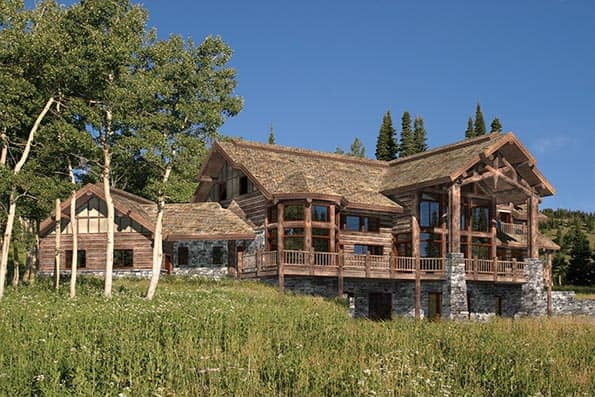 Big Sky handcrafted log home plan