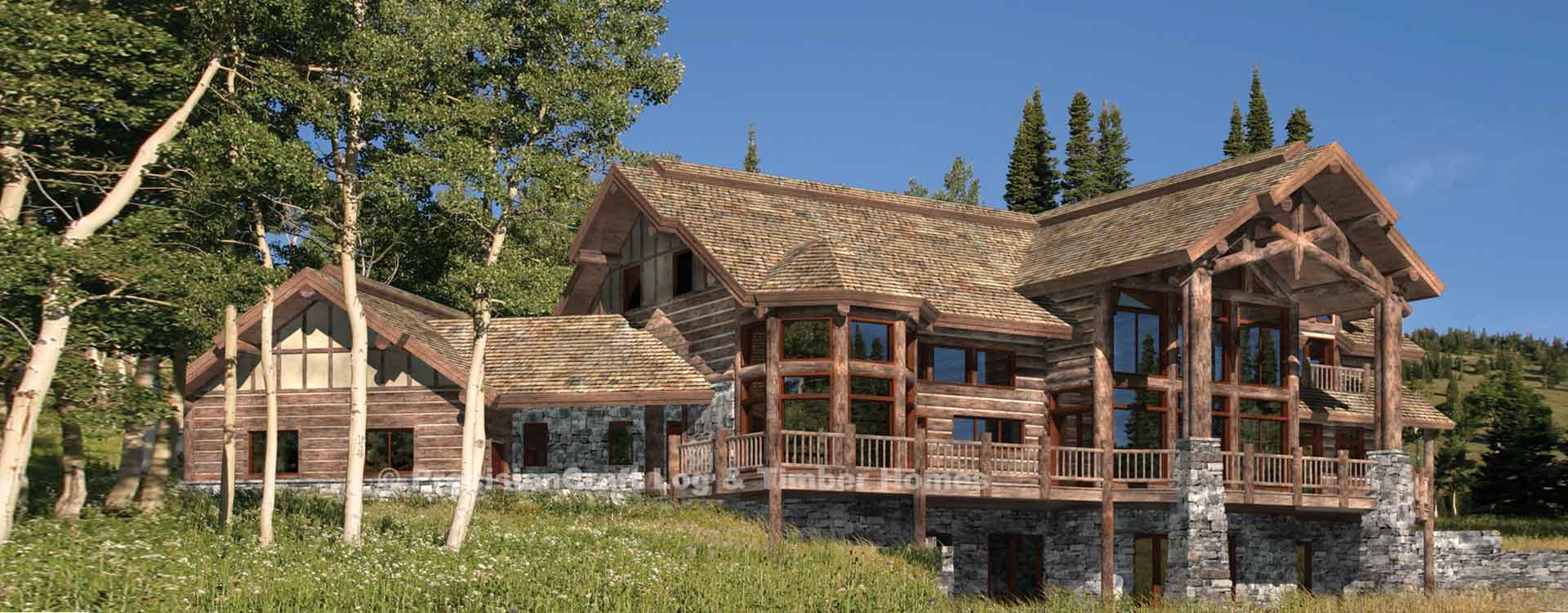 Big sky luxury log home plan Luxury log home plans