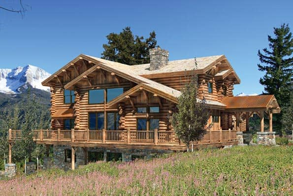 Boisean Log Home Plan
