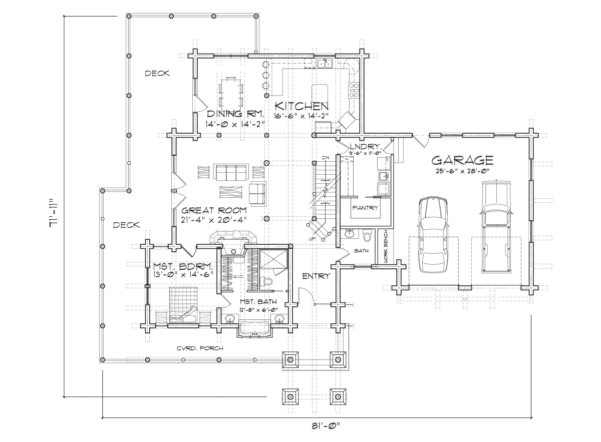 Boisean Main Floor Plan