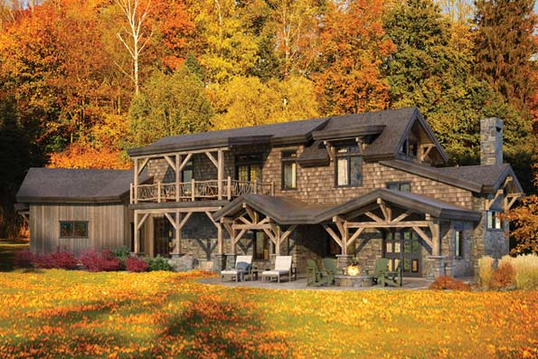 Log Home Floor Plans | Timber Home Plans - By PrecisionCraft Country Plan Story House With Garage Html on
