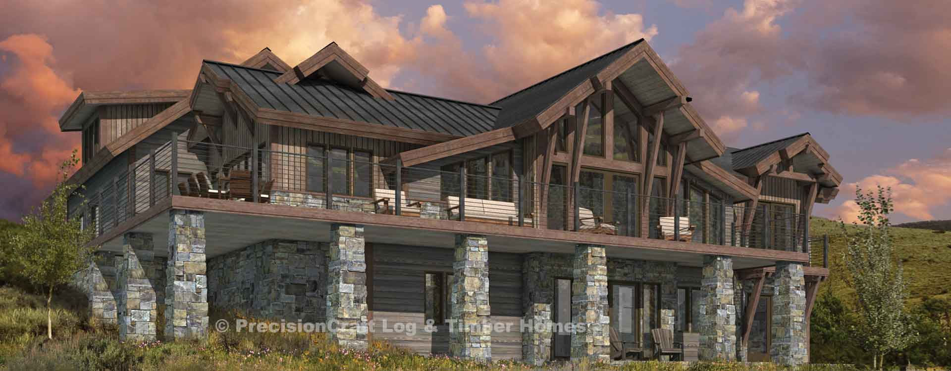 timber frame and log home floor plans by precisioncraft breckenridge custom timber home plan