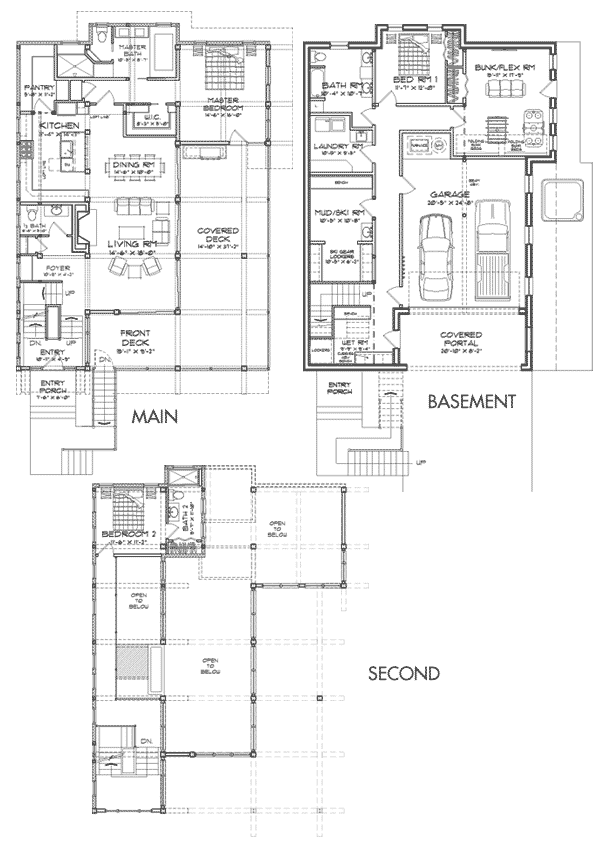 Brighton Modern Timber Frame Floor Plan