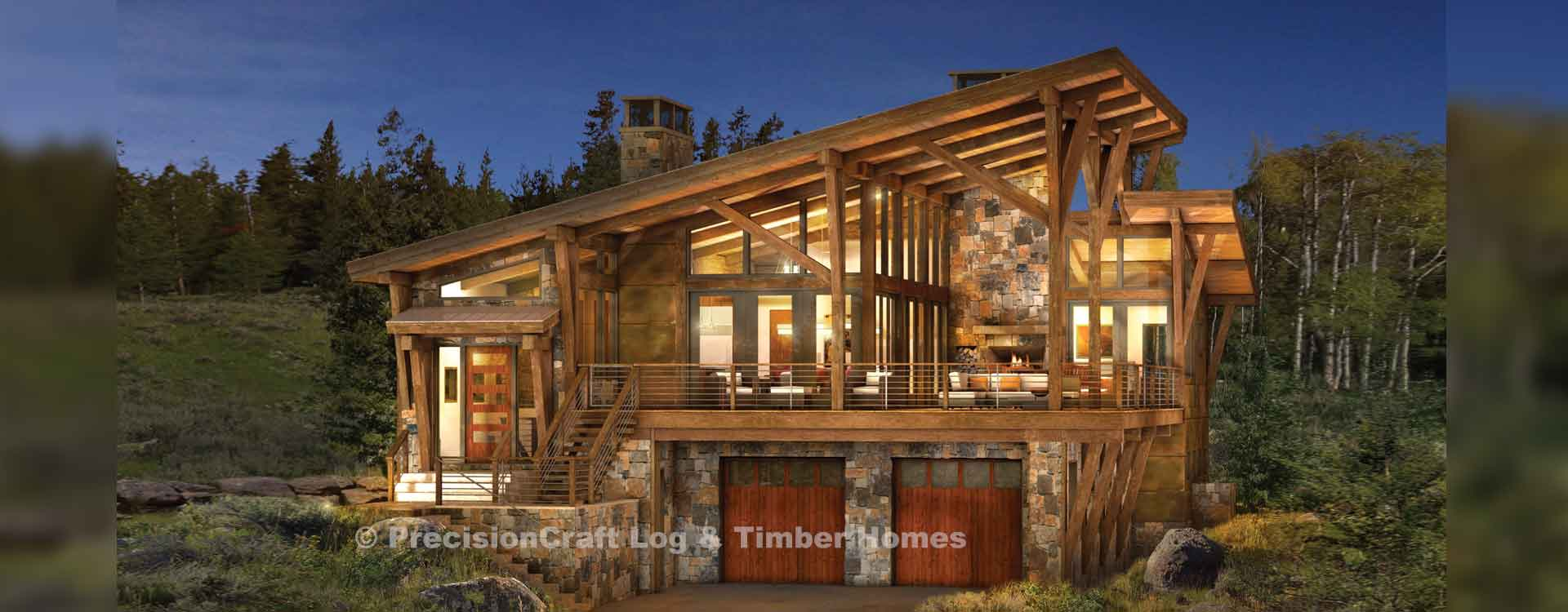 Brighton Modern Timber Frame Floor Plan - Timber frame homes plans