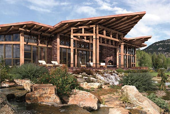 Cascade modern timber home plan