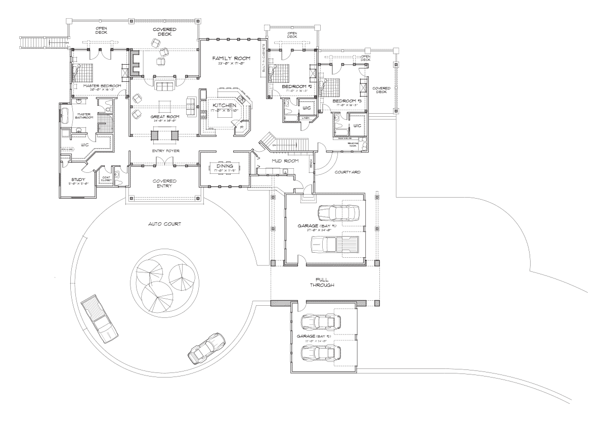 Coeur d'Alene Lodge Main Floor Plan