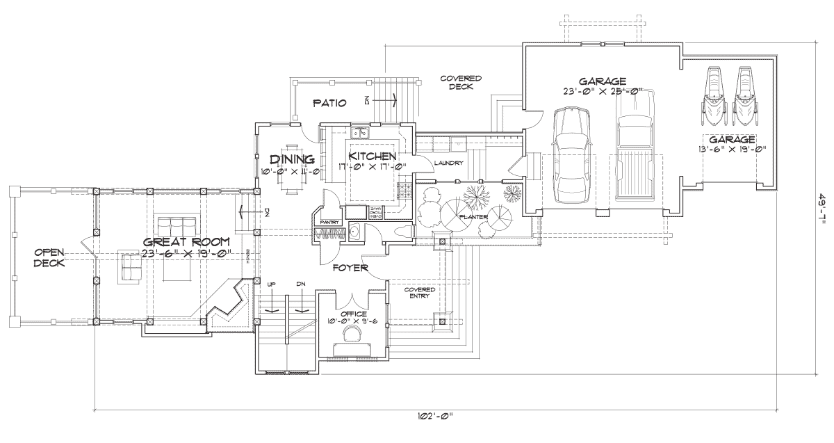 Cedar Bluff Main Floor Plan