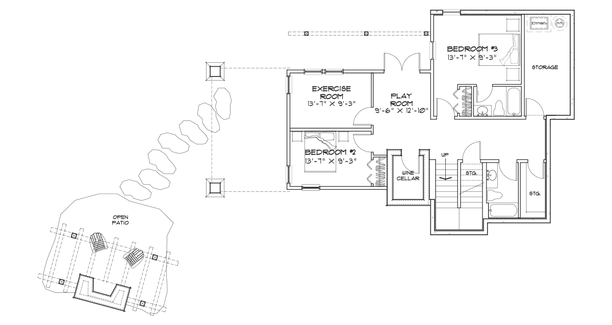 Cedar Bluff Basement Floor Plan