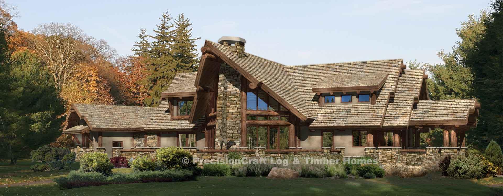 Cedar Falls – Cedar Log Home Floor Plans