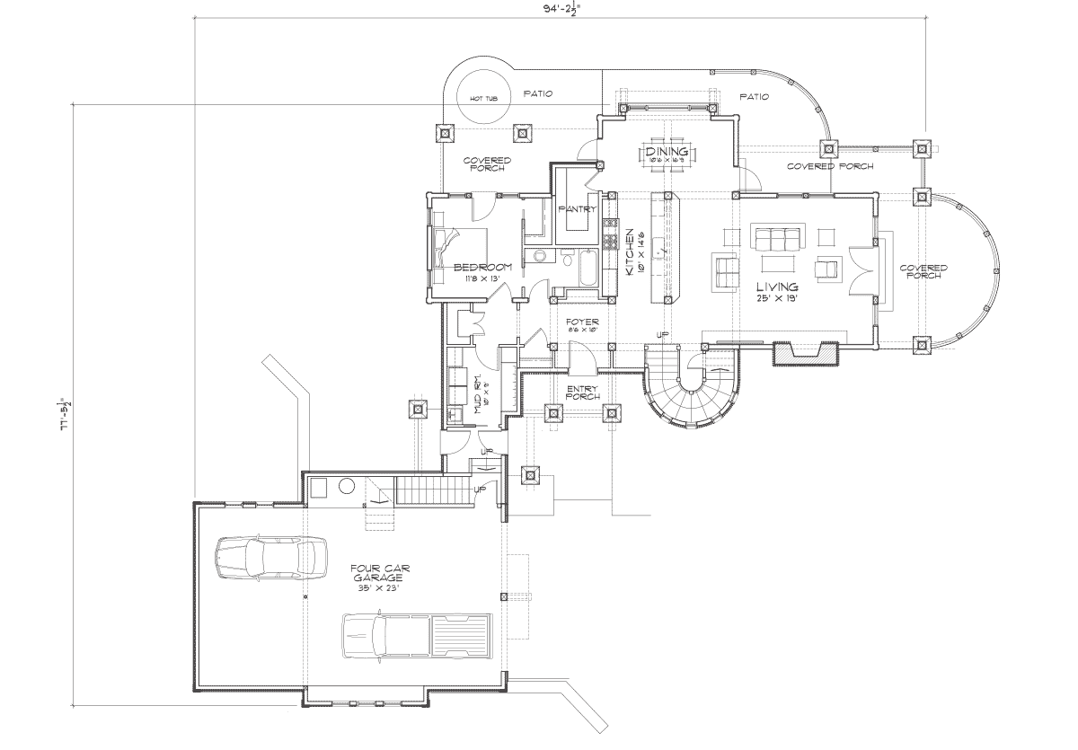 chaumont hybrid log and timber home plan