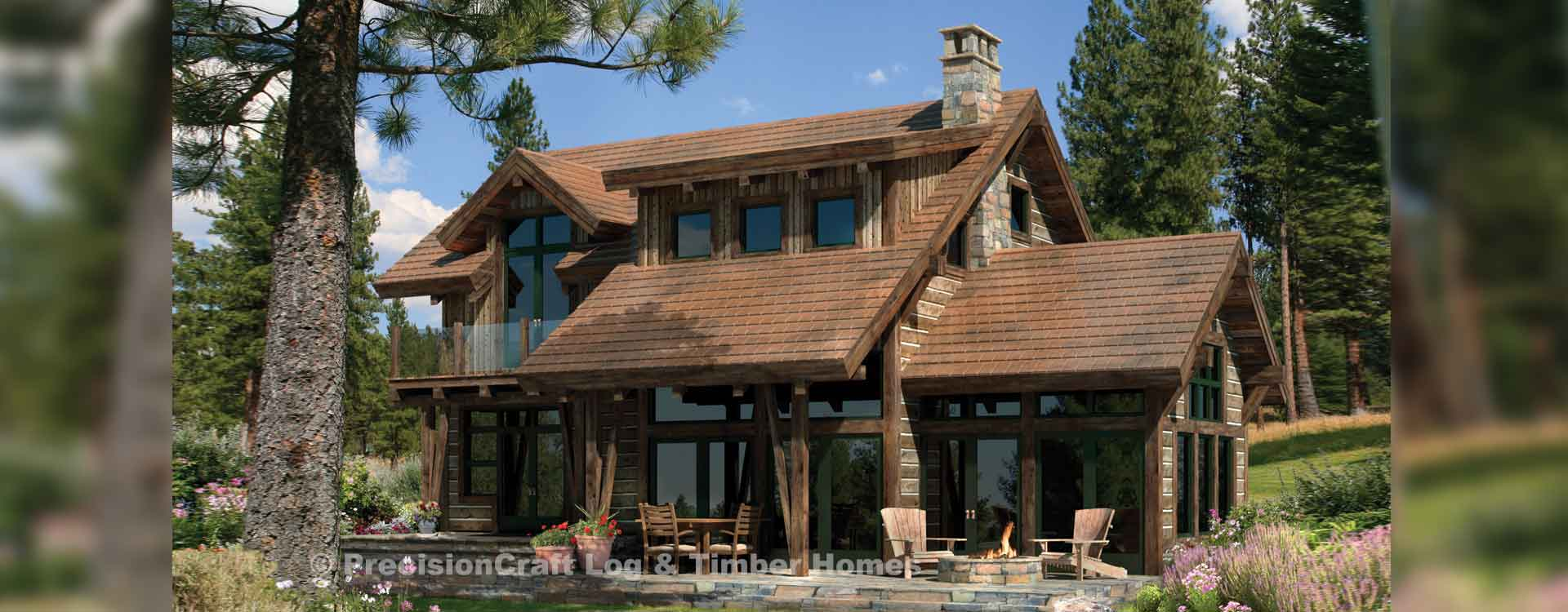 Clearwater timber home Rendering