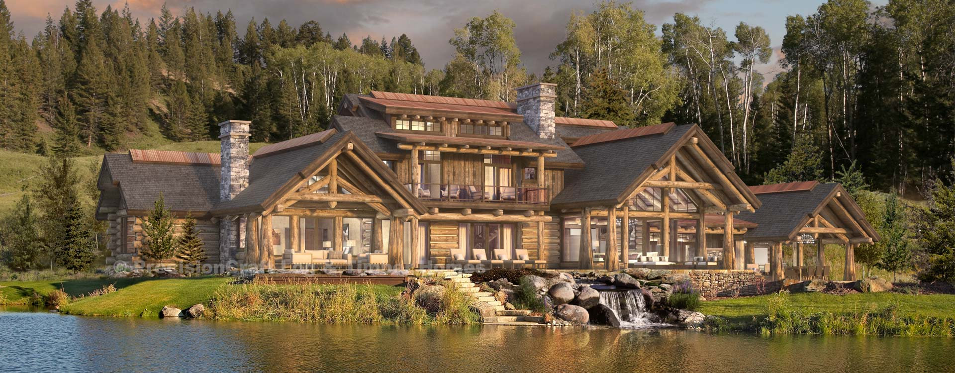 Copper Retreat Handcrafted Log Home Plan