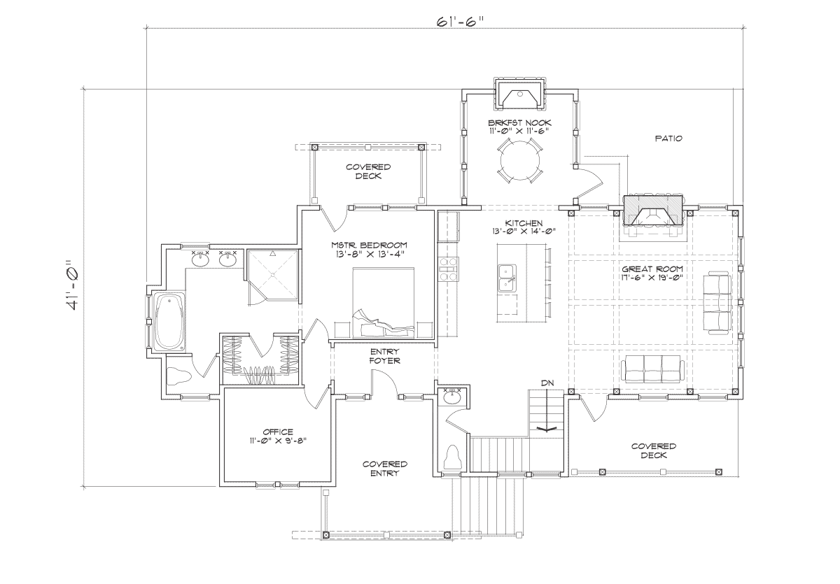 Creekside Main Floor Plan