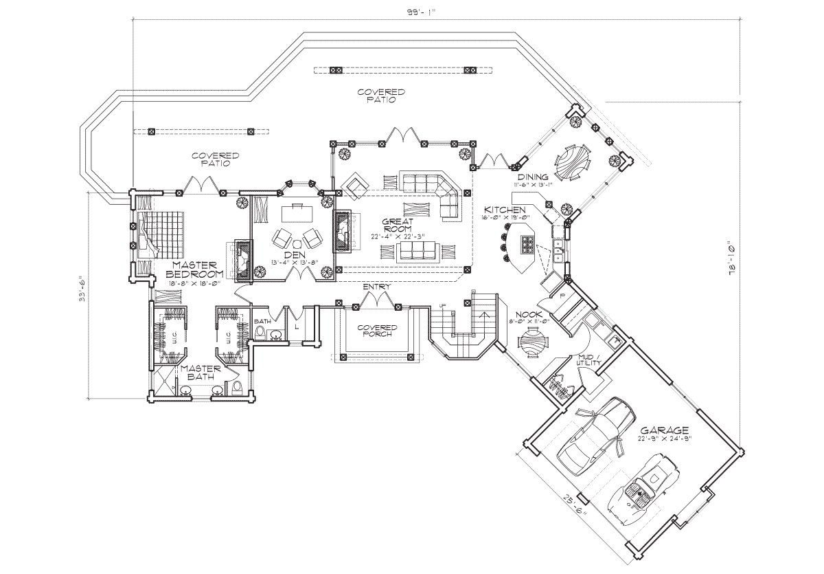 Crested Butte Main Floor Plan