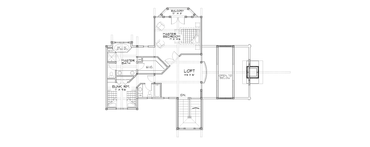 Eagle's Nest Second Floor Plan