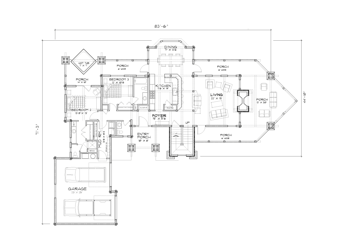 Eagle's Nest Main Floor Plan