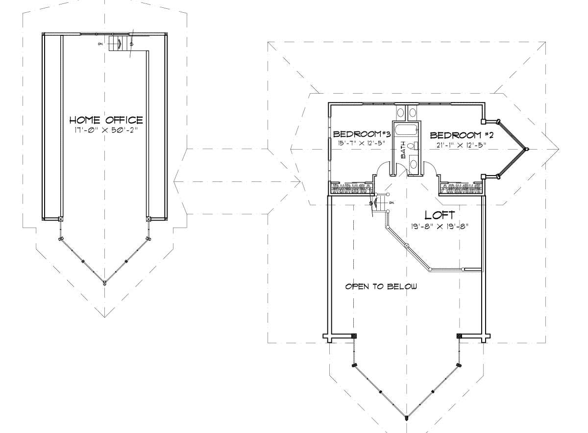 Edgewood log home floor plan for Log home plans with cost to build