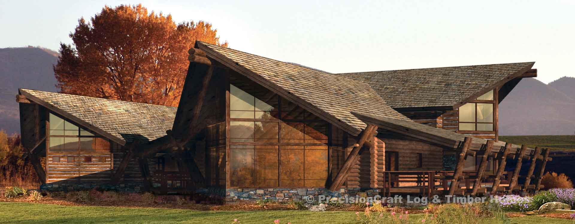 Edgewood Log Home Rendering