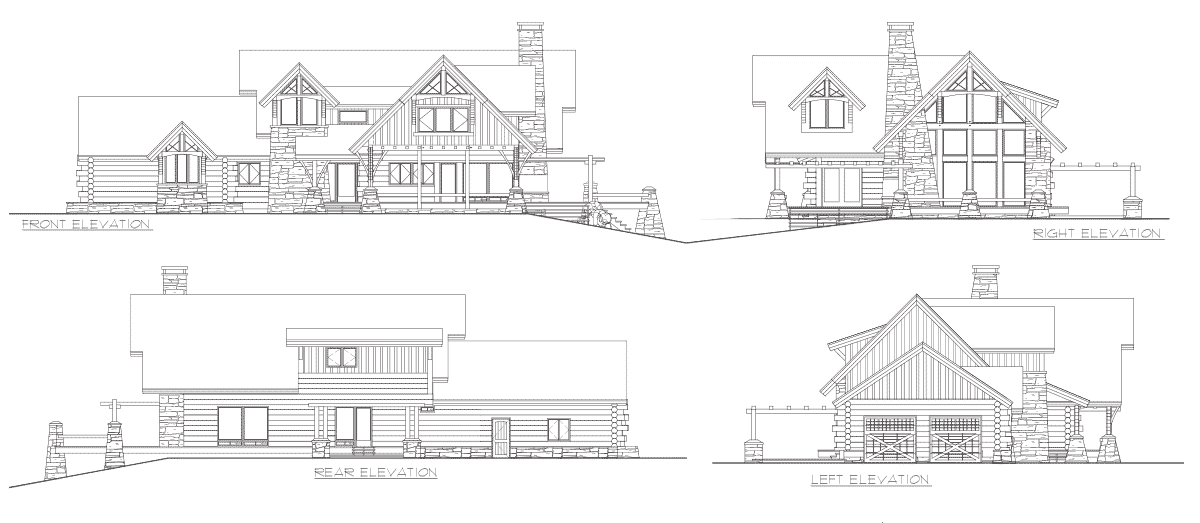 Flat Iron Chalet Elevation
