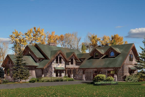 Foxpoint Log Home Plan