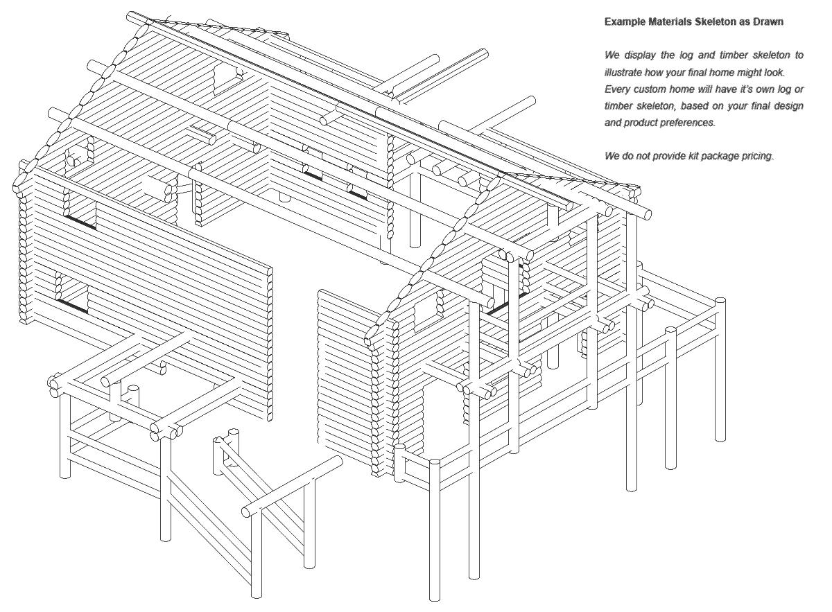 Glacier Peak | Log Home Floor Plan