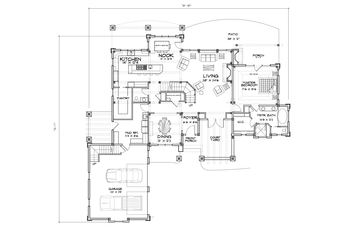 Hickory Falls Main Floor Plan