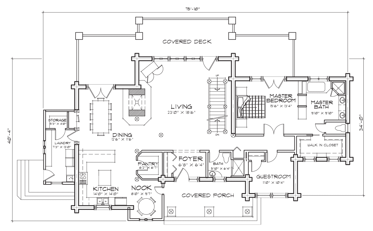 Hidden Creek Main Floor Plan