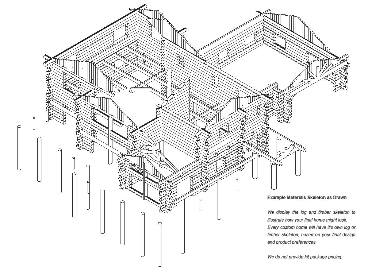 Hudson | Log Home Floor Plan