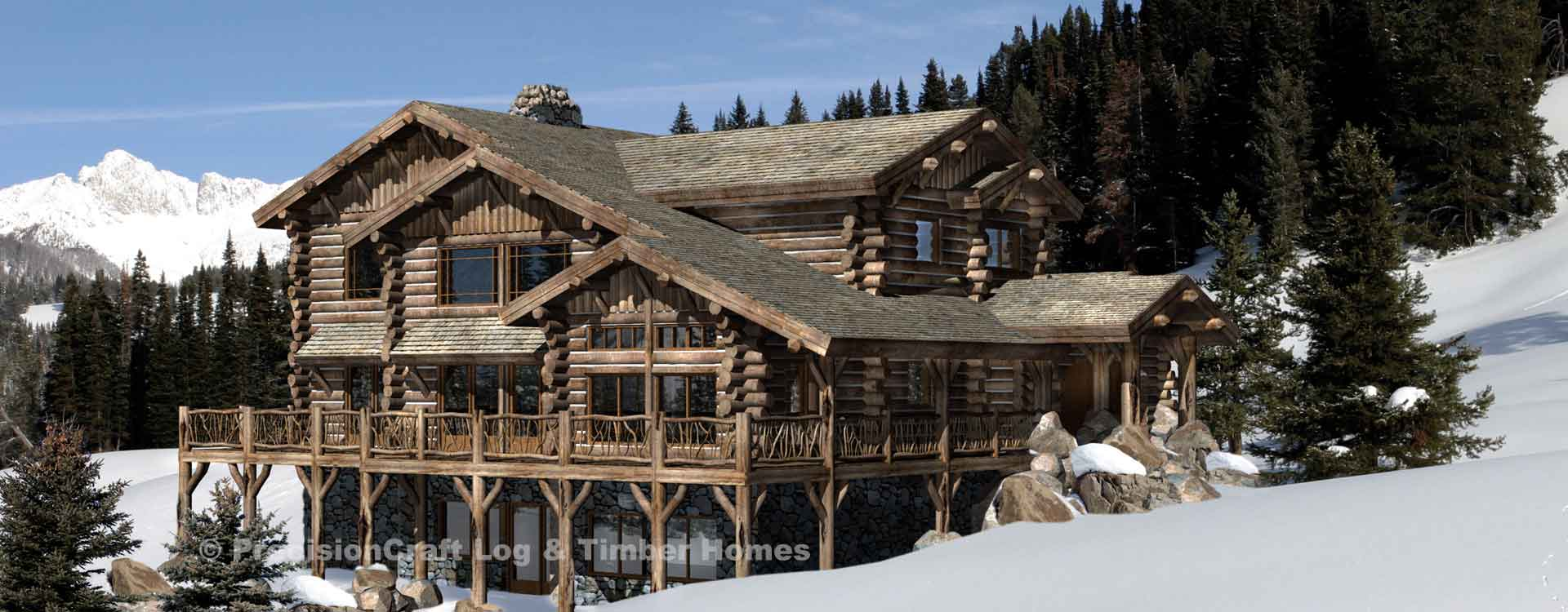 hudson log home floor plan