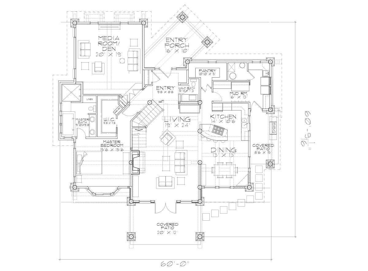 Huntington Main Floor Plan