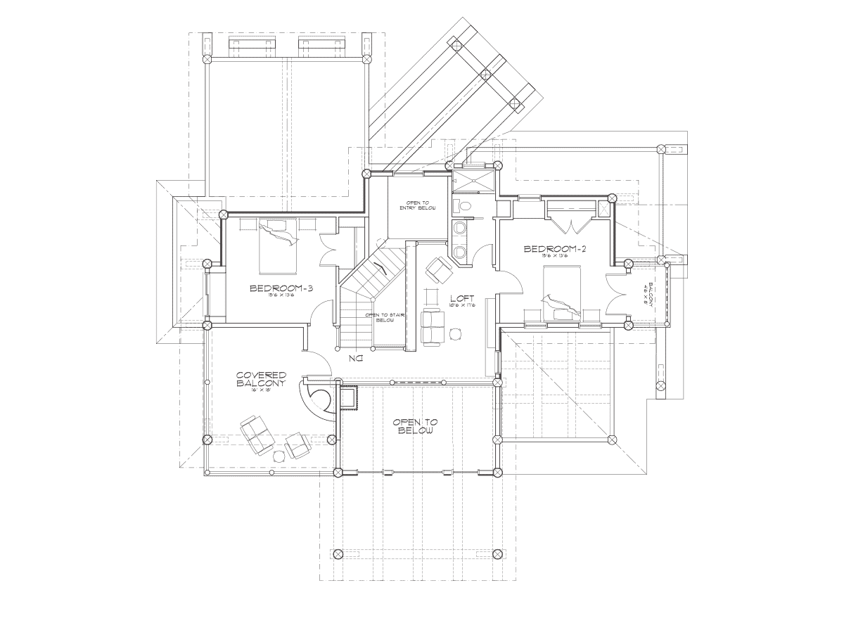 Huntington 2nd Floor Plan