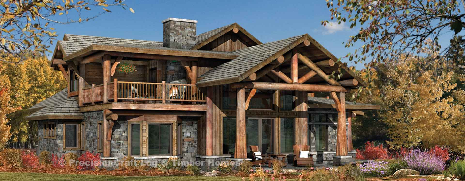 Huntington log home Rendering