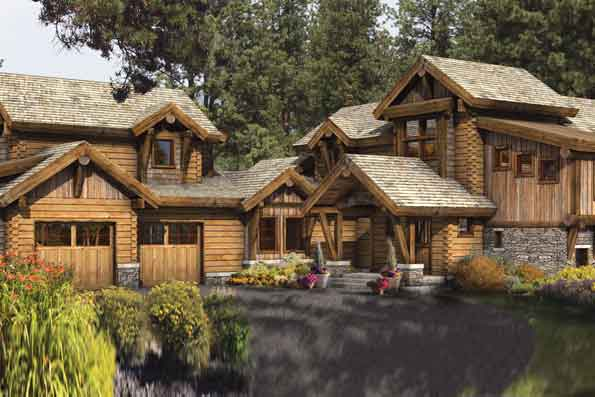 Idlewild log home plan